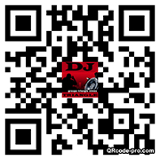 QR code carte de visite contact DJ Gard animation